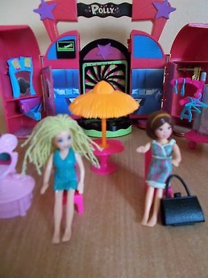 Polly Pocket Disco with Music, 2 Dolls and other items