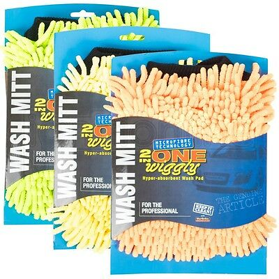 MartinCox 2 in One Wiggly Wash Mitt Noodle Microfibre Mesh Pad Bug Grime Remover