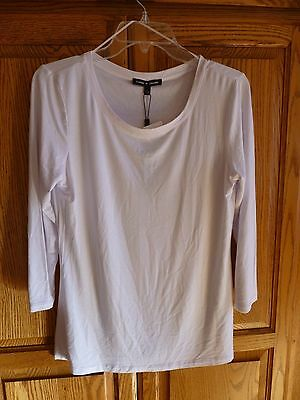 Women's Cable & Gauge White, 3/4 Sleeve Top, Shirt Size L, NWT