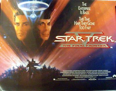 Star Trek V The Final Frontier Quad Poster Rolled William Shatner Leonard Nimoy