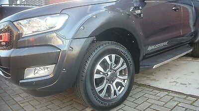 Ford Ranger T6 Wheel Arch Extensions Fender Flares Black Textured Finish Wide