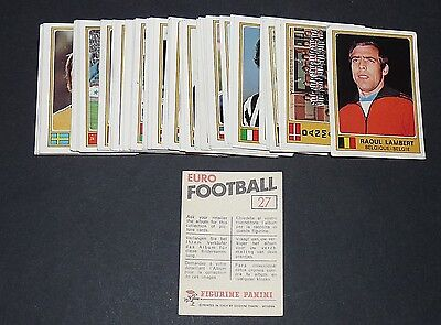 Lot 52 Stickers Differents Panini Euro Football 1976-1977