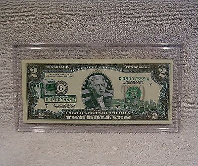 Alabama  $2 Two Dollar Bill - Colorized State Landmark - Uncirculated Authentic