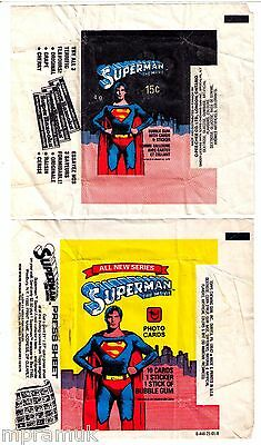 Topps / OPC Superman wrapper lot 1978