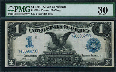 "1899 $1 Silver Certificate FR-229a - ""Black Eagle"" - Graded PMG 30 - Very Fine"