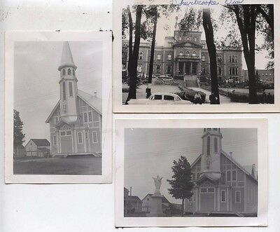 RARE 1954 Sherbrooke Quebec Canada Pictures Photos TOWN HALL Building & Church