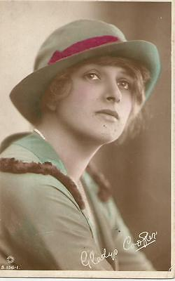 Gladys Cooper .  Hand painted photo postcard