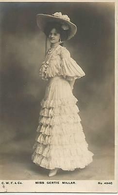 Miss Gertie Millar  posted 1905