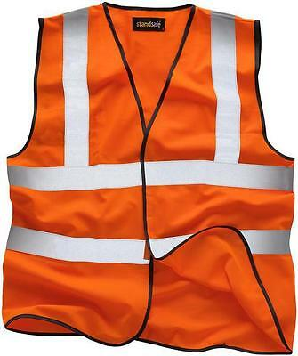 "Standsafe - HV001O2XL - Hi-vis Vest Orange Xx Large 48/50"" Chest"