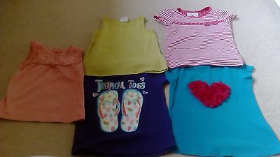 Girls Bundle of 5 Summer Tops Age 2-3 Years