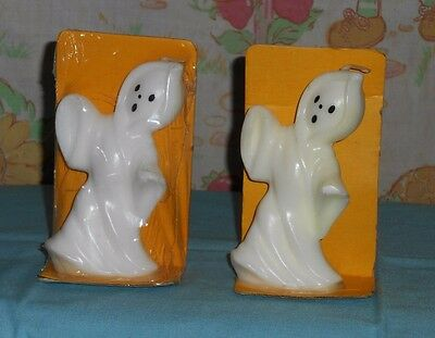 vintage Halloween SUNI CANDLE white ghost lot x2 (one sealed in package)