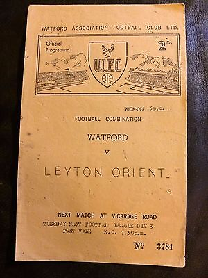 WATFORD RESERVES v LEYTON ORIENT RES 1960-61 FOOTBALL COMBINATION