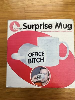 Thumbs up 'Office Bitch' Novelty Mug. New in box.