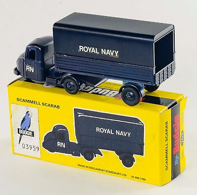 Budgie 702 Scammell Scarab 'Royal Navy' Cab/Trailer. Dk Blue. Boxed. 1980's