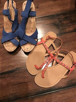 Lot Of 2 Pair Women Shoes Size 5