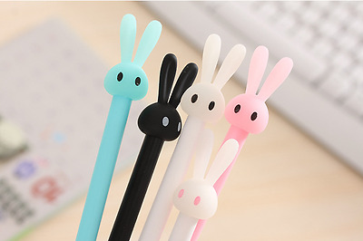 2 x Cute Rabbit Bunny fine point pen Party Cute Kids novelty stationery Kawaii