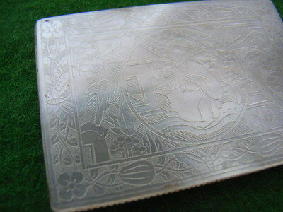 Chinese Antique Mother of Pearl Gaming Token. Fantastic carved pictures