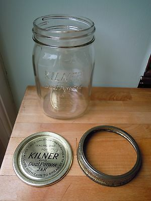Vintage Dual Purpose 2 lb Kilner Jar with Original Screw-Top Lid & Seal