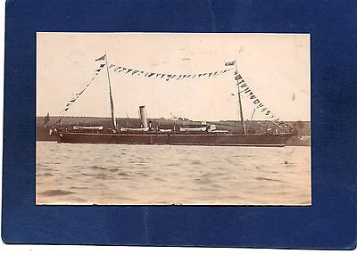 mm#2) UNKNOWN STEAM YACHT (TRIMMED) *RP POSTCARD-SHIPS