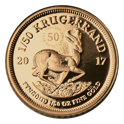2017 South Africa 1/50 oz. Gold Krugerrand Proof In Mint Cap with COA SKU45660