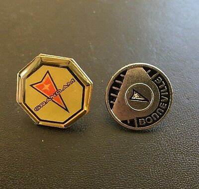 Collectible! Pontiac Grand Am & Bonneville Cap Hat Lapel Salesman  Pins