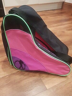 Roller skate bag in Black with Pink and Purple sides