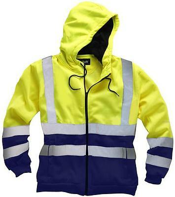 "Standsafe - HV032YXLG - Hi Vis Hoodie Yellow/navy X Large 46/48"" Chest"
