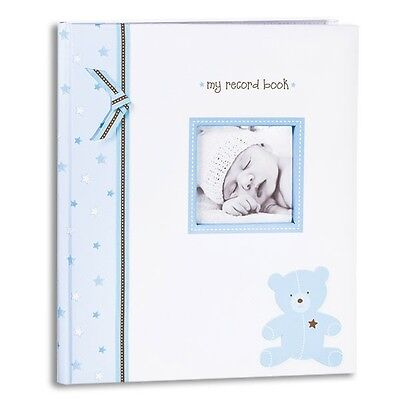 Baby Record Books : L'il Peach BLUE BEAR BABY RECORD BOOK Boy Blue Book NWT