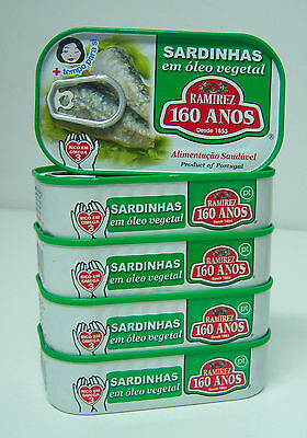 (5x)Cans Portuguese Sardines in Vegetable Oil 125g - RAMIREZ - Portugal