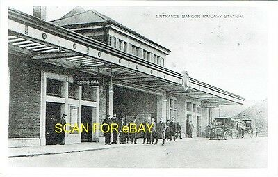 Railway Photo Bangor Station (Exterior) in LNWR Days (Chester & Holyhead Line)