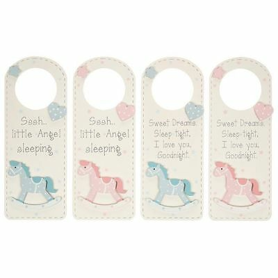 Baby boy girl wooden rocking horse baby door sign new baby gift nursery decor