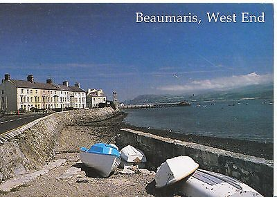 Wales Postcard - Beaumaris - West End - Isle of Anglesey   LSL830