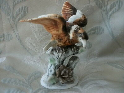 Vintage porcelain Bird of Prey figurine