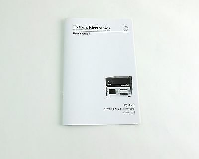 Extron Electronics PS123 Power Supply User's Guide Instruction Manual