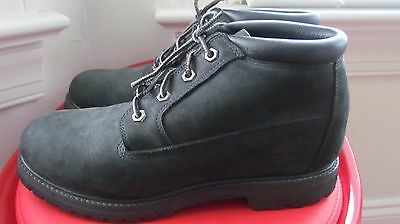 Timberland Black Leather Men's Ankle Boots Size 9M