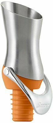 Savora Stainless Steel Wine Pourer and Stopper -Persimmon