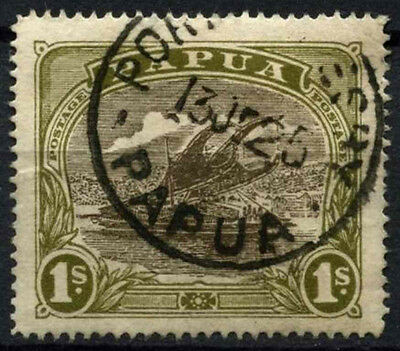 Papua 1916-31 SG#102, 1s Sepia And Olive Used #D44807