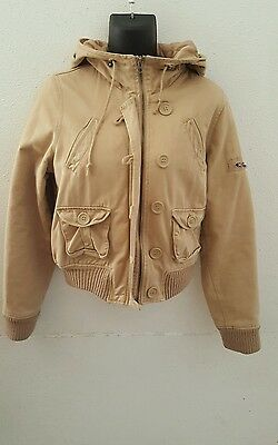 Women's Reference hoodie tan jacket size Medium winter warm thick