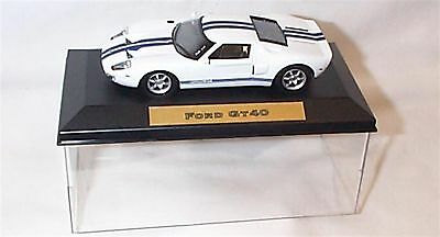 Ford GT40 White Blue Stripe 1-43 scale  new in case
