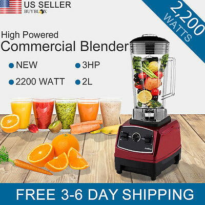 2200W 3HP Professional Commercial Table Blender Juicer Mixer High Power Vitamix