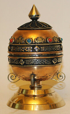 Beautiful Color Table Stand Prayer Wheel, Hand made Nepal, PW-7, Brand New !
