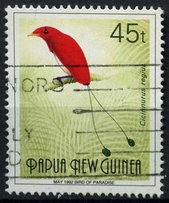 """Papua New Guinea 1991-3 SG#643, 45t Birds Of Paradise """"May 1992"""" Used #D44858"""