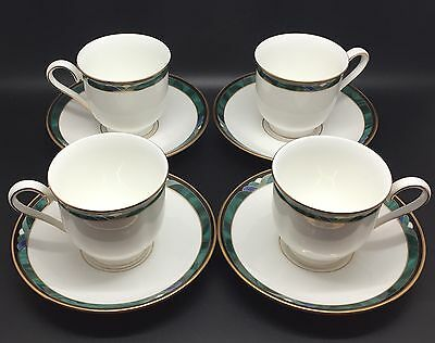 Set Of 4 Lenox KELLY Teacups & Saucers, Debut Collection, Bone China (RF-C1)