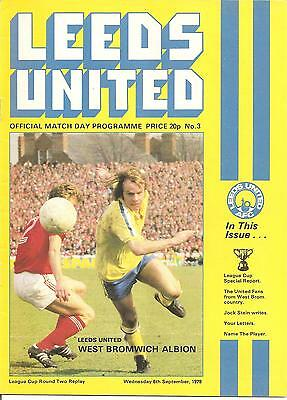 1978/79  League Cup Round 2 Replay   Leeds United V Nottingham Forest