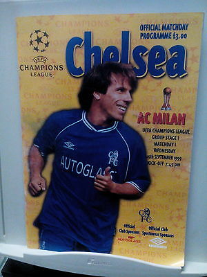 CHELSEA AC MILAN match programme and ticket