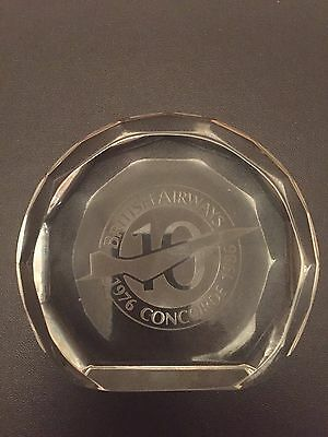 British Airways Concorde Commemorative Lead Crystal Paperweight.