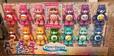 Care Bears Collector 14 colorful Set Vinyl Figures- Exclusive Sweet Sakura Bear