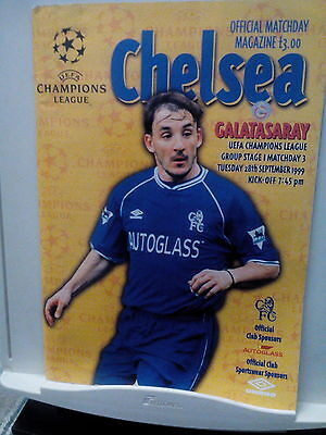 CHELSEA GALATASARY match programme and ticket
