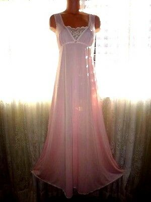 Vintage Silky Pink Nylon Nightgown