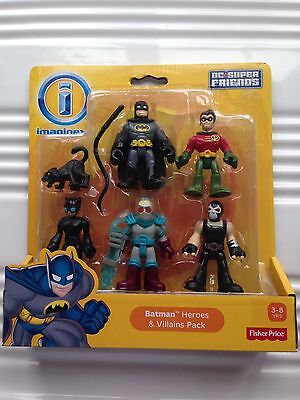 Imaginext DC Batman Heroes & Villains Pack Batman Robin Catwoman Bane Mr Freeze